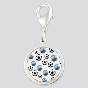 Argentina world cup soccer balls Silver Round Char
