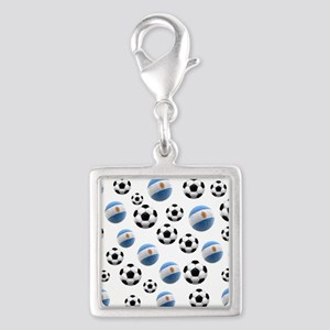 Argentina world cup soccer balls Silver Square Cha