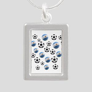 Argentina world cup soccer balls Silver Portrait N