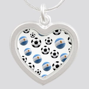 Argentina world cup soccer balls Silver Heart Neck
