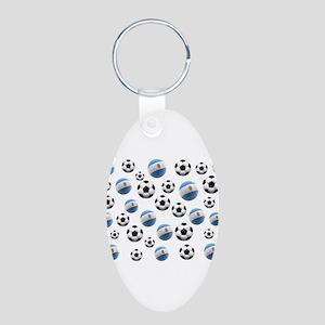 Argentina world cup soccer balls Aluminum Oval Key