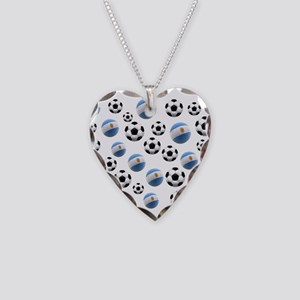 Argentina world cup soccer balls Necklace Heart Ch