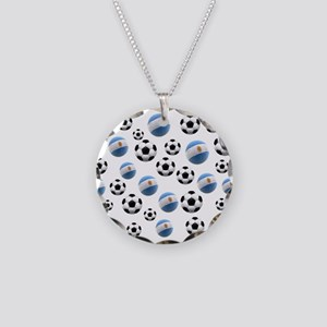 Argentina world cup soccer balls Necklace Circle C