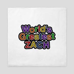 World's Greatest Zach Queen Duvet