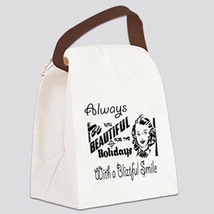 Always Be Beautiful Retro Sign Canvas Lunch Bag