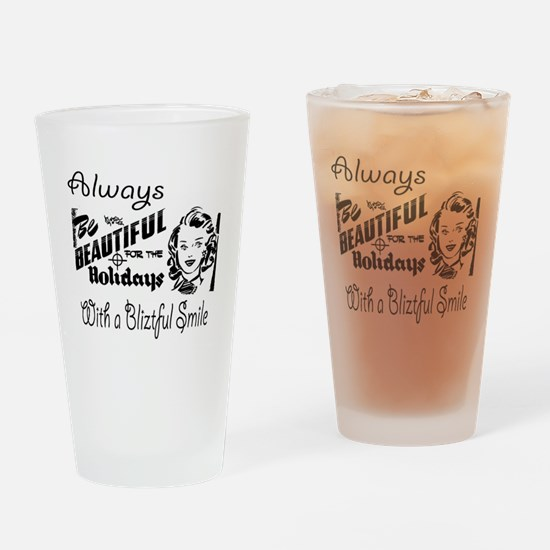 Always Be Beautiful Retro Sign Drinking Glass