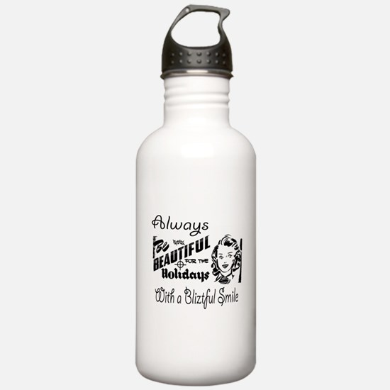 Always Be Beautiful Retro Sign Water Bottle