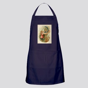 Alice and the Caterpillar Victorian art Apron (dar