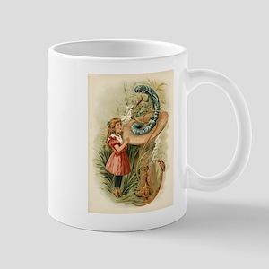 Alice and the Caterpillar Victorian art Mug