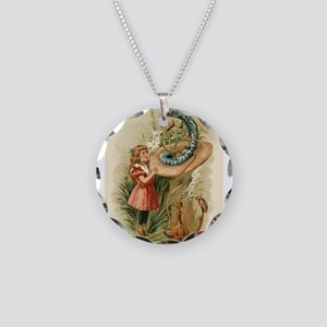 Alice and the Caterpillar Victorian art Necklace