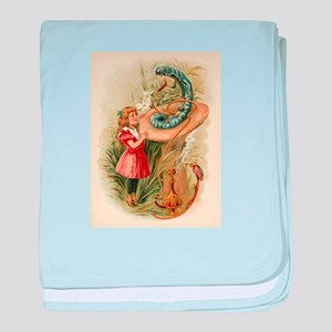 Alice and the Caterpillar Victorian art baby blank