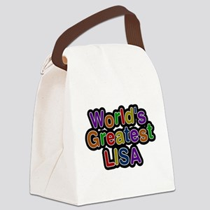 Worlds Greatest Lisa Canvas Lunch Bag