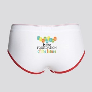 Education is the Foundation Women's Boy Brief
