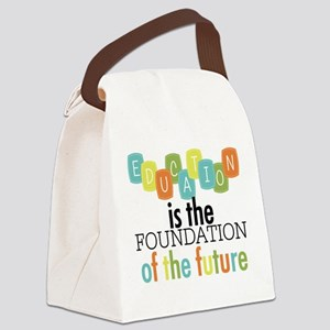 Education is the Foundation Canvas Lunch Bag