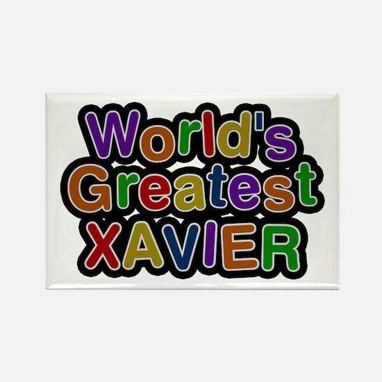 World's Greatest Xavier Rectangle Magnet