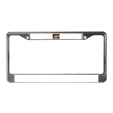 Dogs Playing Beer Pong License Plate Frame