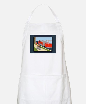 Fire Engine, Fireman, Dalmatian 5x7 feet Apron