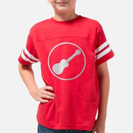 Rock Band Ukulele Gray Youth Football Shirt