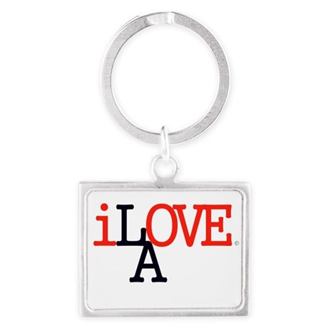 i Love LA Iconic RedBlk Lrg Los Angeles Keychains