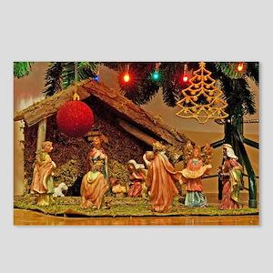 Nativity scene Postcards (Package of 8)