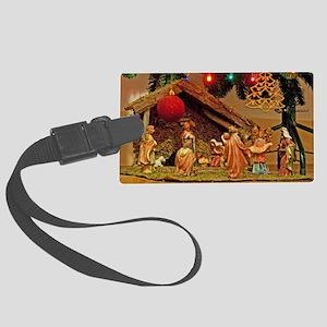 Nativity scene Large Luggage Tag