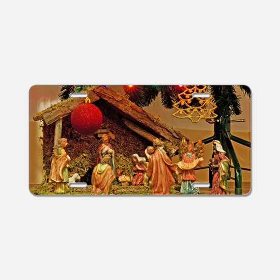 Nativity scene Aluminum License Plate