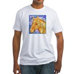 Tribal Art BW Fitted T-Shirt
