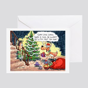 Santa Called in Sick Greeting Cards (Pk of 10)