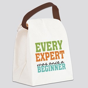Every Expert Once a Beginner Canvas Lunch Bag
