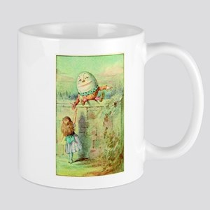 Alice and Humpty Dumpty color illustration Mug