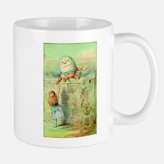 Alice and Humpty Dumpty color illustration Mug