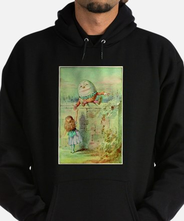 Alice and Humpty Dumpty color illustration Hoodie