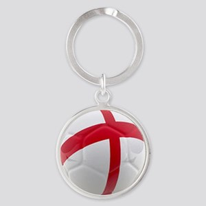 England world cup soccer ball Round Keychain