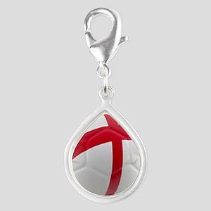 England world cup soccer ball Silver Teardrop Char