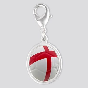 England world cup soccer ball Silver Oval Charm