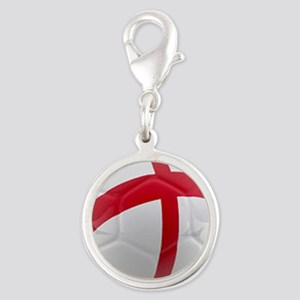 England world cup soccer ball Silver Round Charm