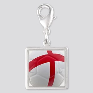 England world cup soccer ball Silver Square Charm