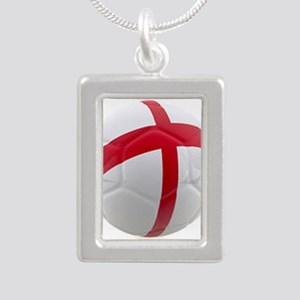 England world cup soccer ball Silver Portrait Neck