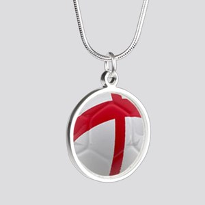 England world cup soccer ball Silver Round Necklac