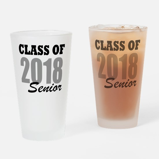 Funny College senior Drinking Glass
