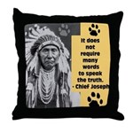 Truth Quote Throw Pillow