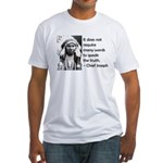 Truth Quote Fitted T-Shirt