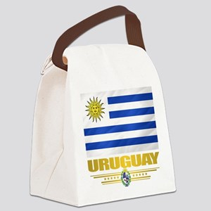 Uruguay Flag Canvas Lunch Bag
