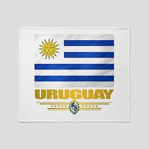 Uruguay Flag Throw Blanket