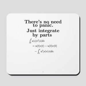 Integration by parts Mousepad