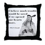 Open Hearts Throw Pillow