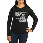 Open Hearts Women's Long Sleeve Dark T-Shirt