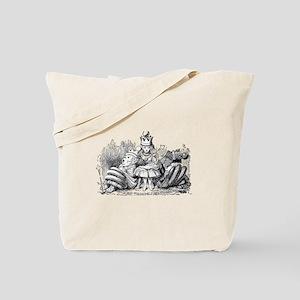 Queen Alice Wonderland illustration Tote Bag