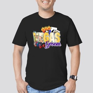 VEGAS Groom Men's Fitted T-Shirt (dark)