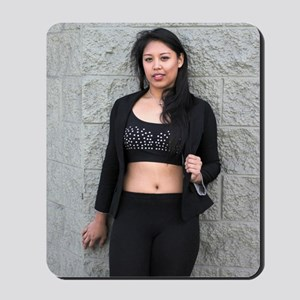 Portrait of a Filipino woman Mousepad